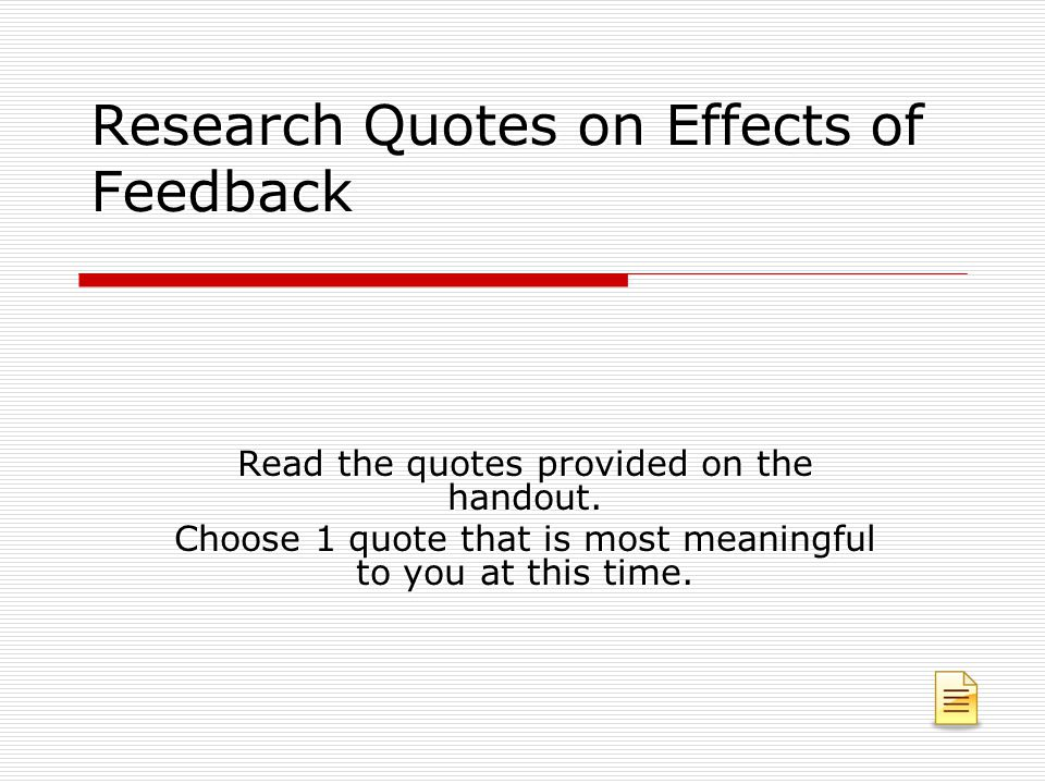 Research Quotes on Effects of Feedback