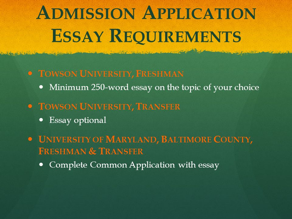 University of maryland application essay help