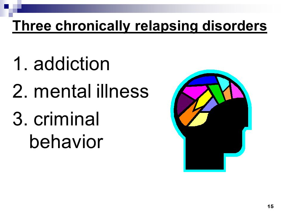 Three chronically relapsing disorders