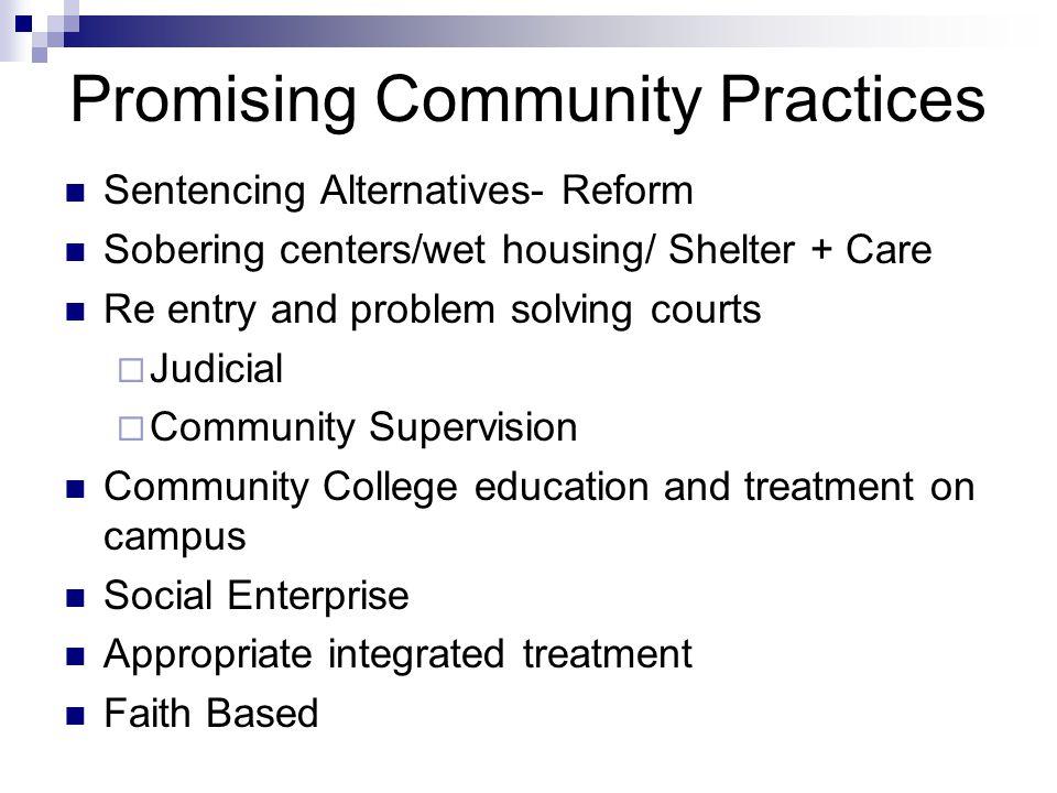Promising Community Practices
