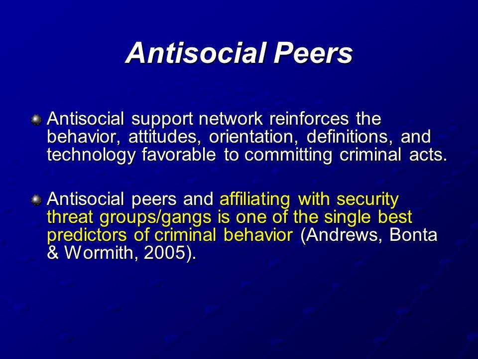 Antisocial Peers