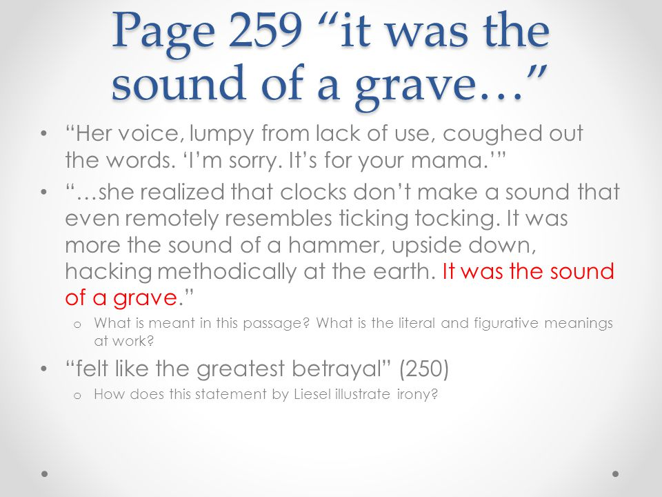 Page 259 it was the sound of a grave…