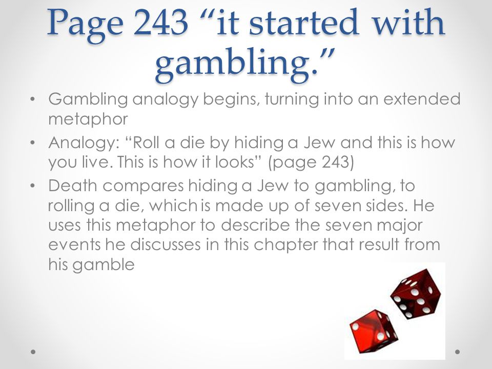 Page 243 it started with gambling.