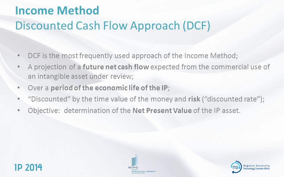 Income Method Discounted Cash Flow Approach (DCF)