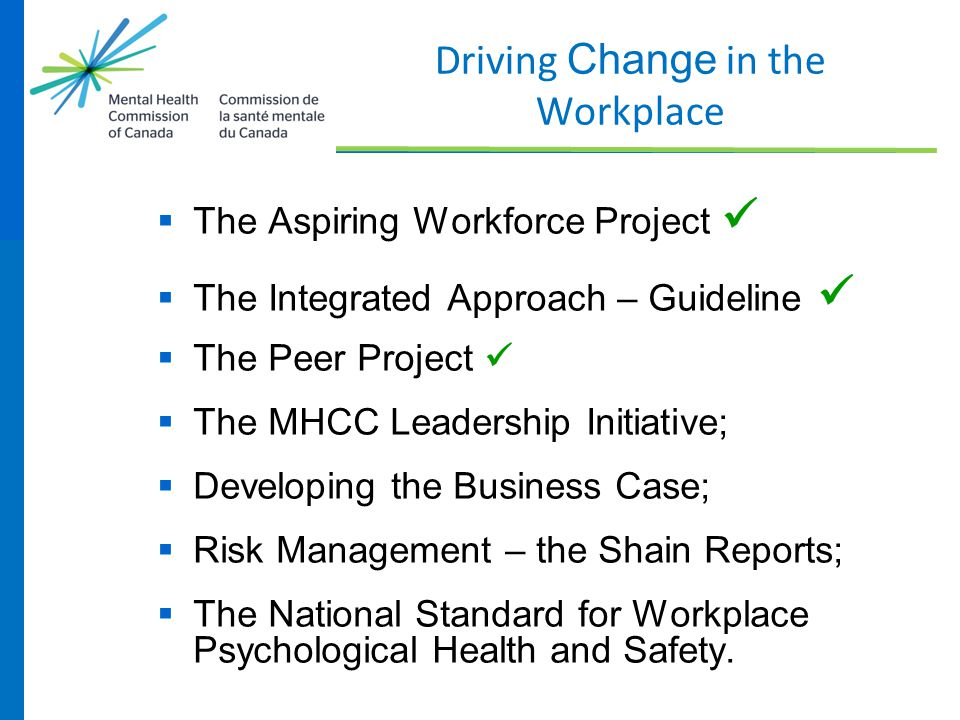 Driving Change in the Workplace