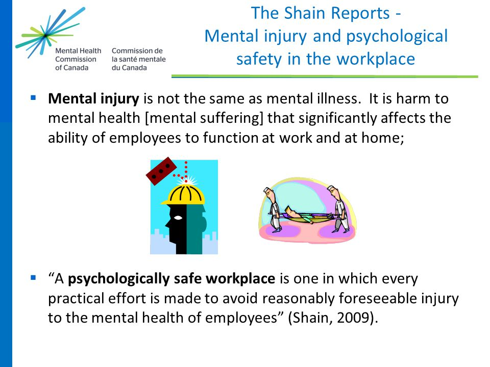 The Shain Reports - Mental injury and psychological safety in the workplace