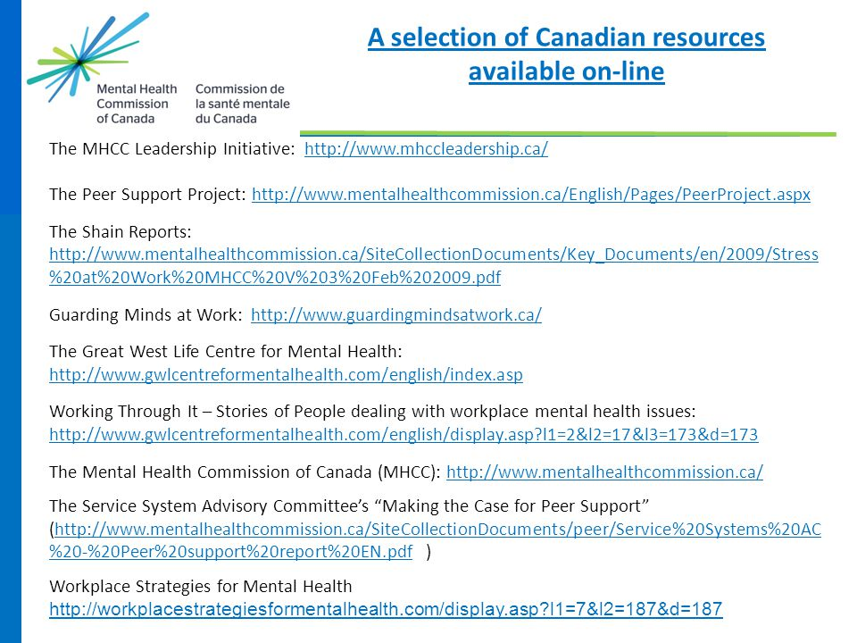 A selection of Canadian resources available on-line