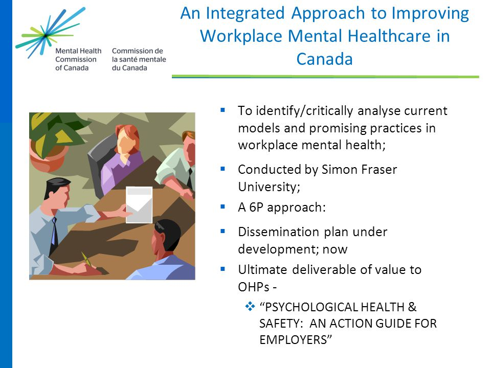 An Integrated Approach to Improving Workplace Mental Healthcare in Canada