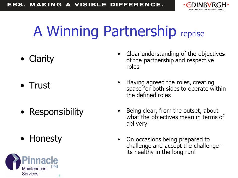 A Winning Partnership reprise