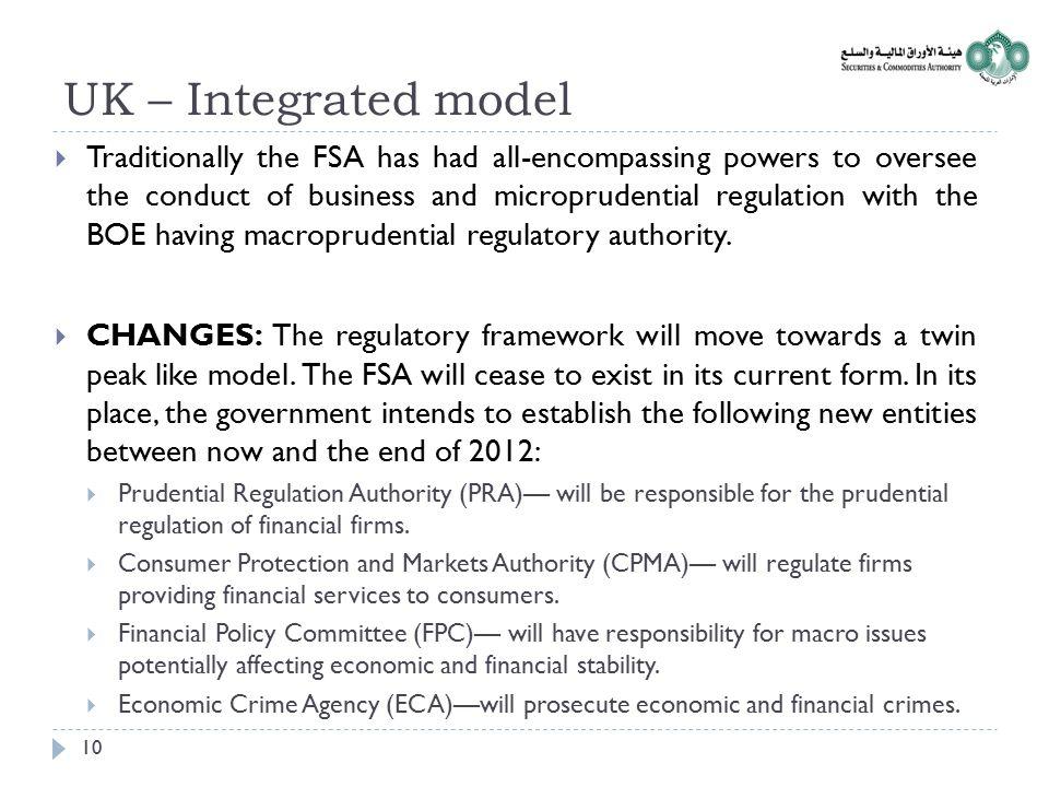 UK – Integrated model