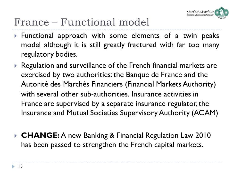 France – Functional model