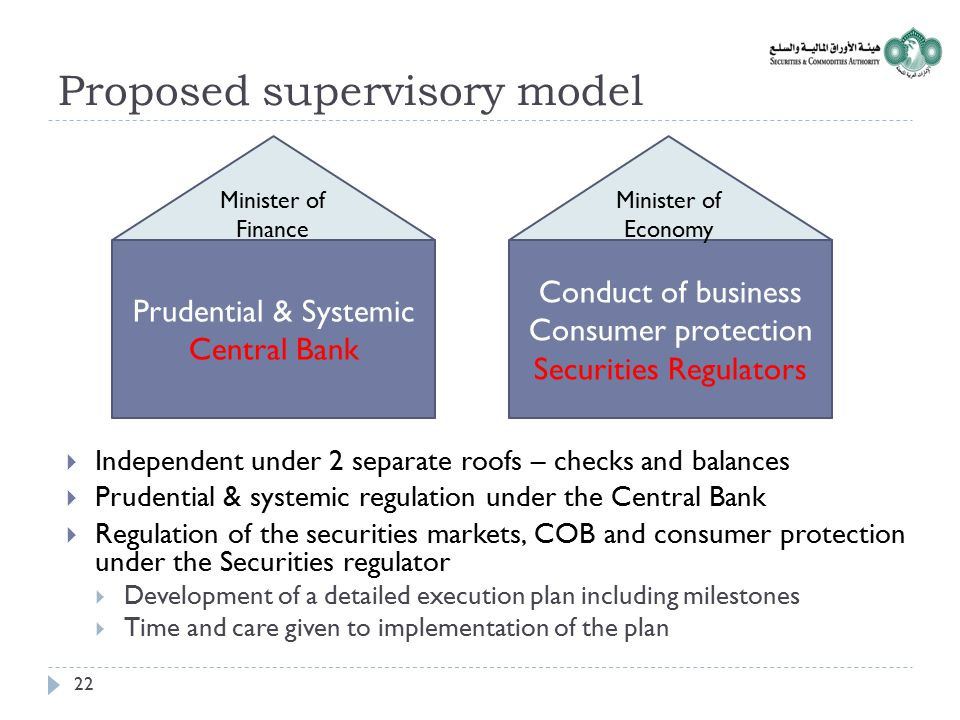 Proposed supervisory model