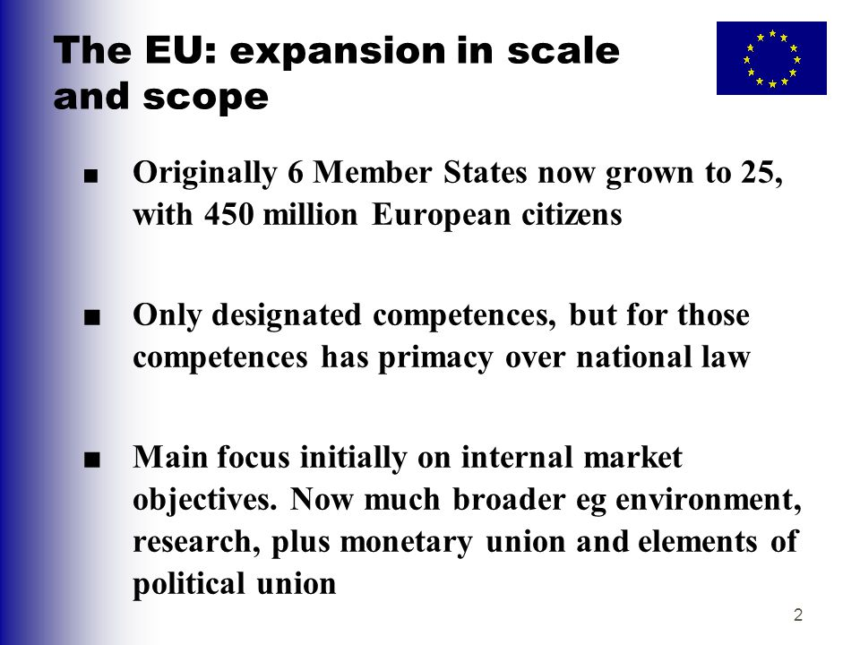 The EU: expansion in scale and scope