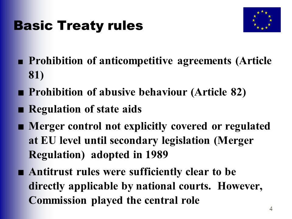 Basic Treaty rules ■ Prohibition of abusive behaviour (Article 82)