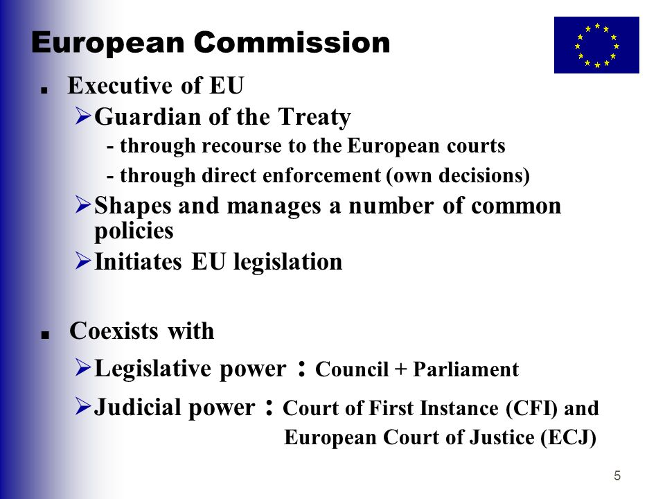 European Commission Guardian of the Treaty