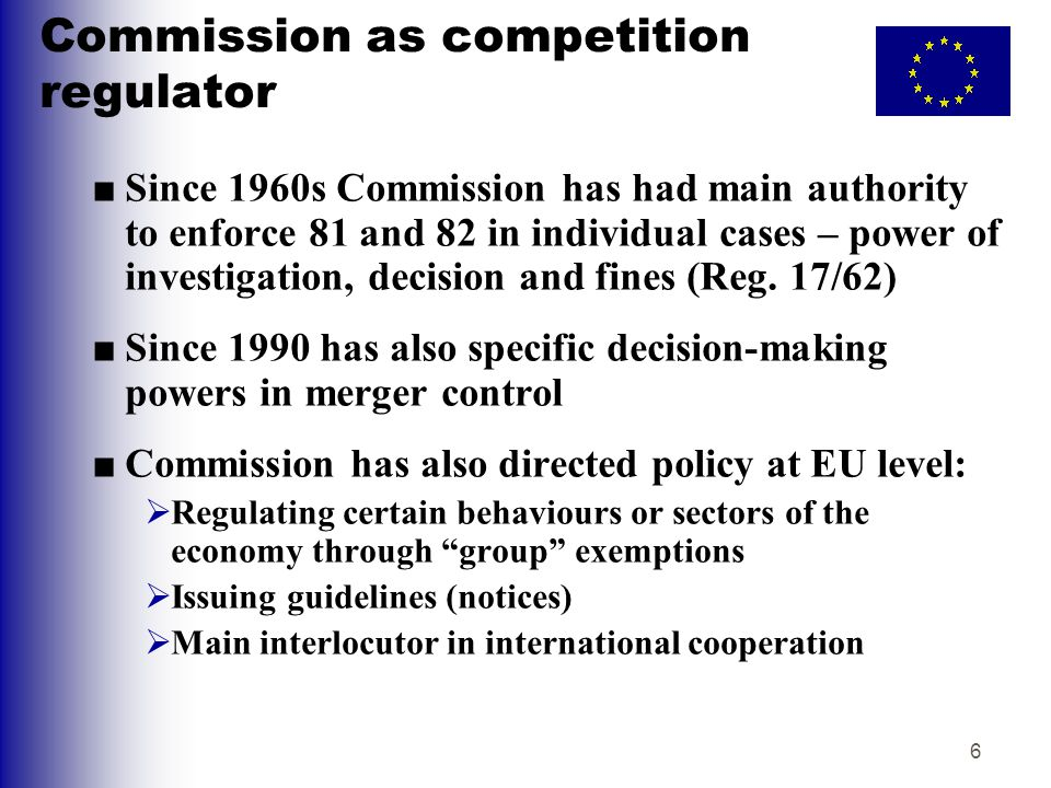 Commission as competition regulator