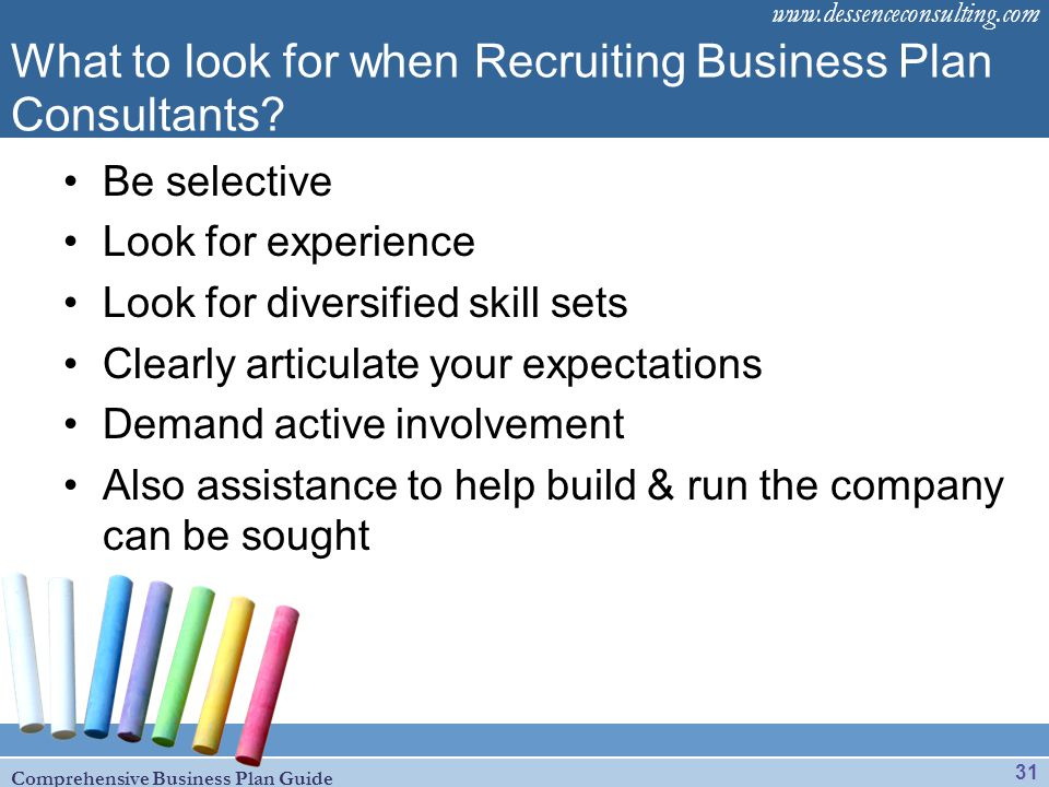 What to look for when Recruiting Business Plan Consultants