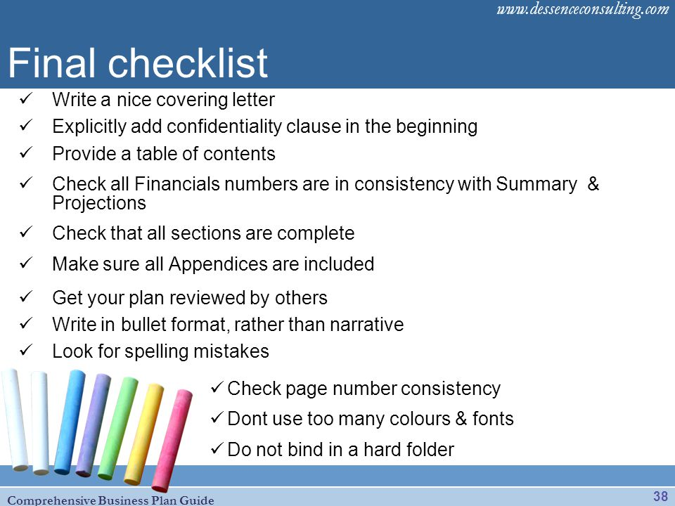 Final checklist Write a nice covering letter