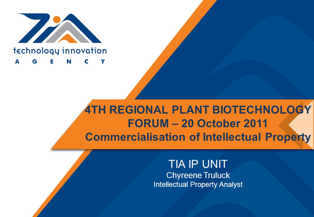 4TH REGIONAL PLANT BIOTECHNOLOGY FORUM – 20 October 2011