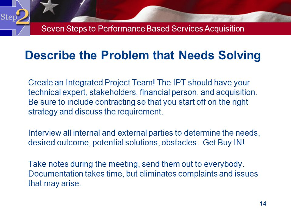 Describe the Problem that Needs Solving