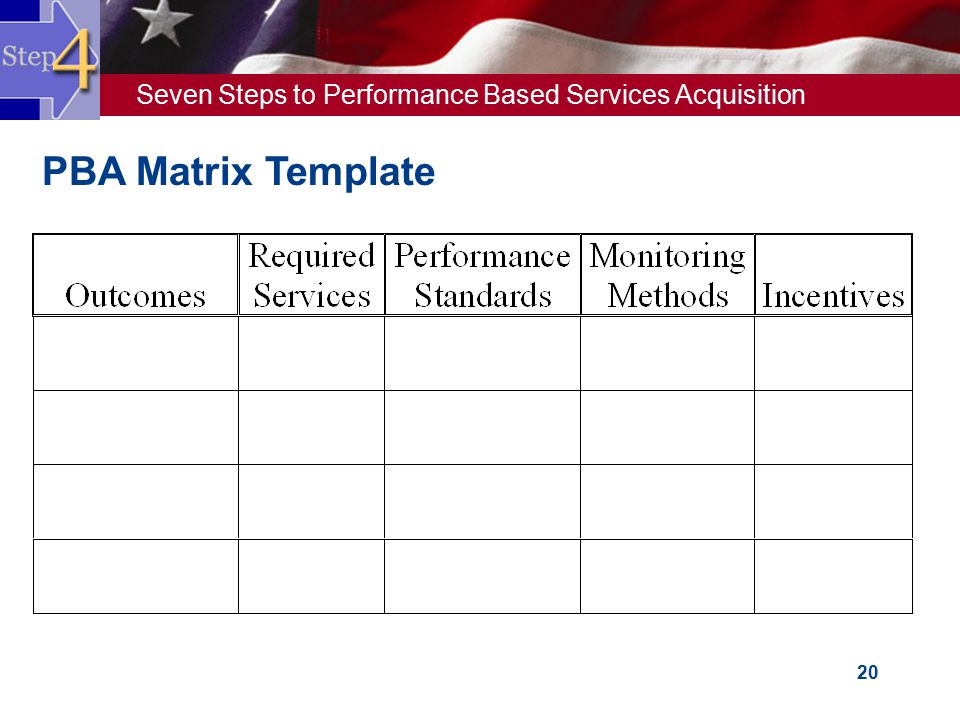 PBA Matrix Template 20