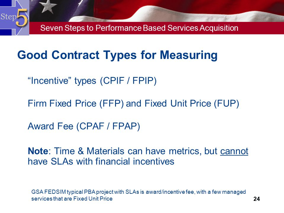 Good Contract Types for Measuring