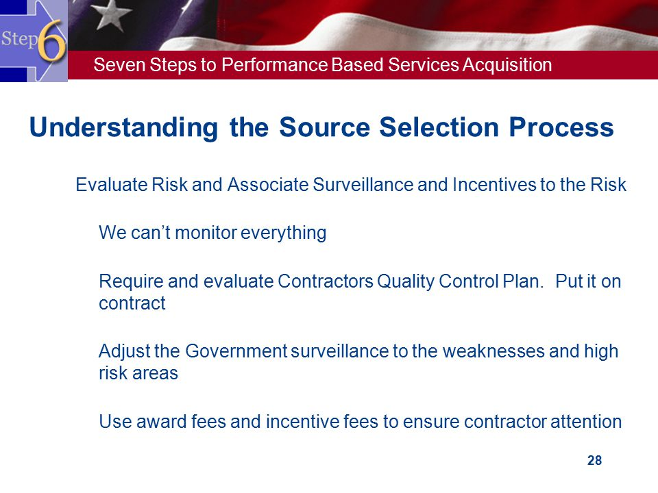 Understanding the Source Selection Process