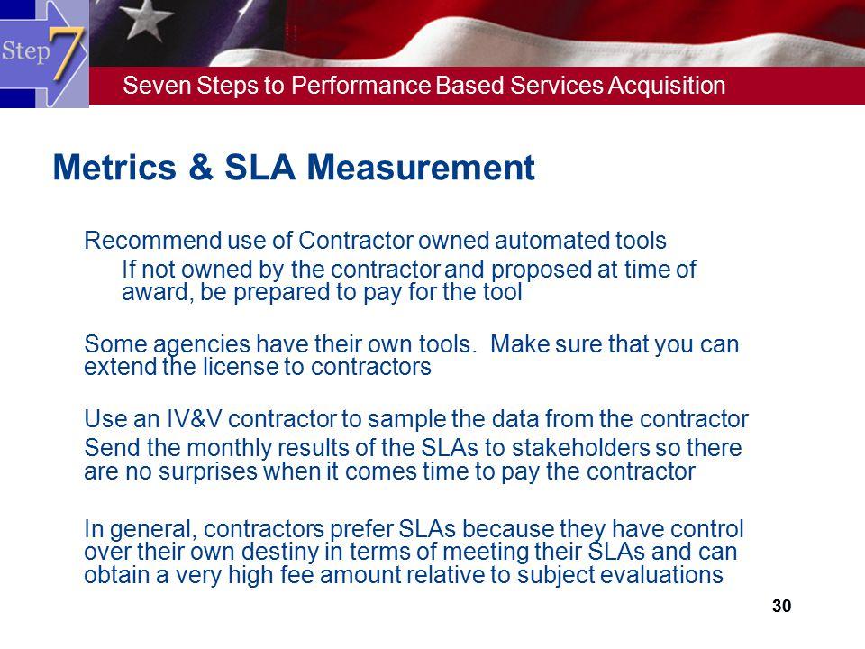 Metrics & SLA Measurement