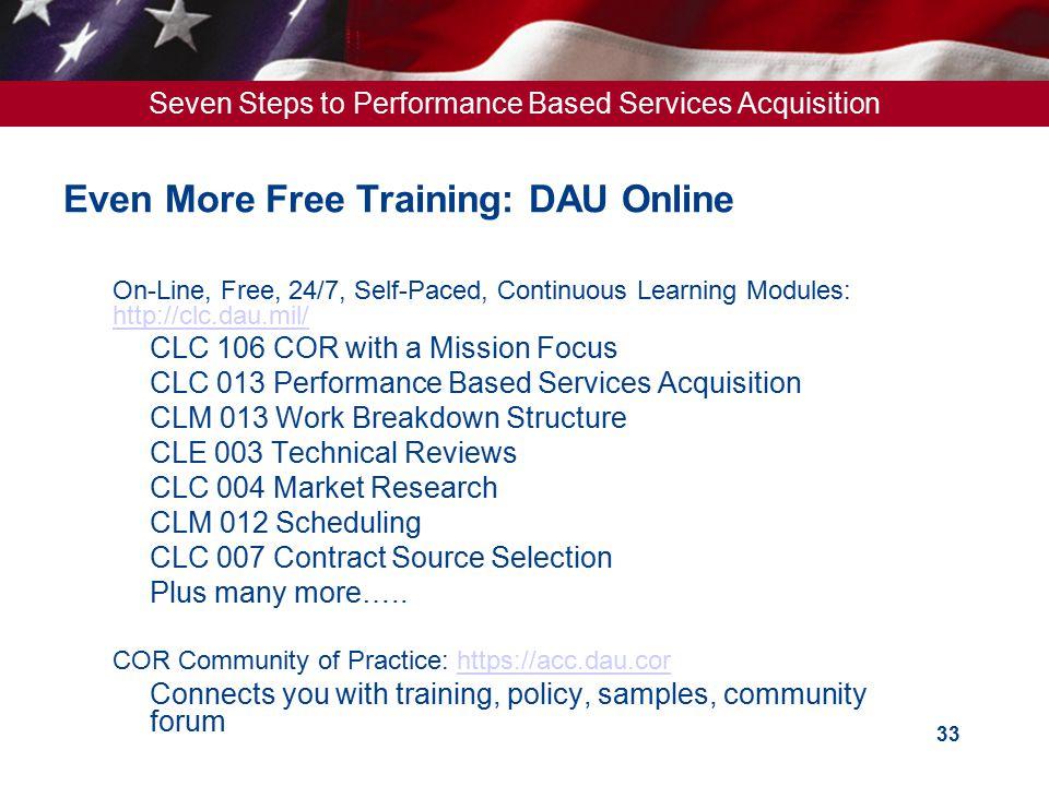 Even More Free Training: DAU Online
