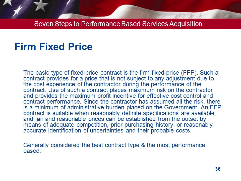 Firm Fixed Price