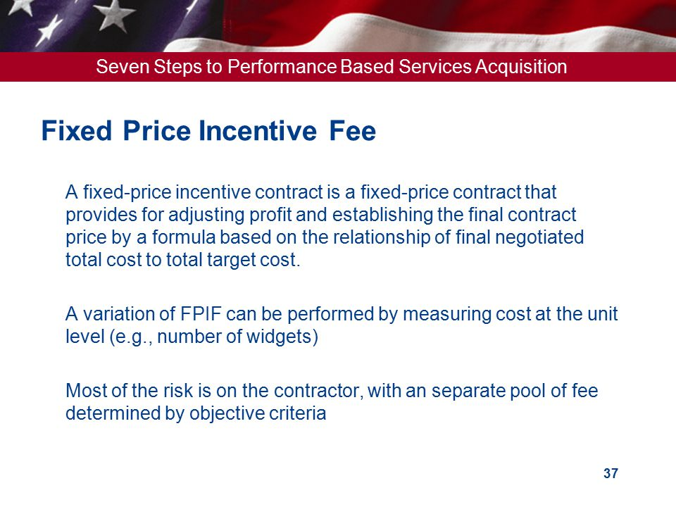 U s general services administration ppt download for Fixed price construction contract
