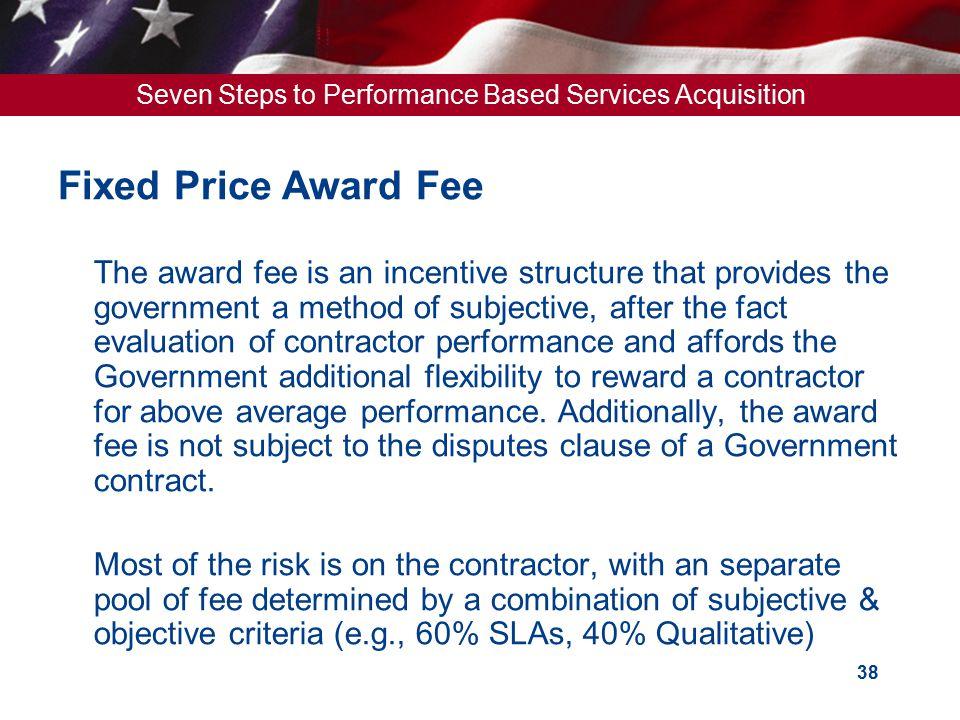 Fixed Price Award Fee
