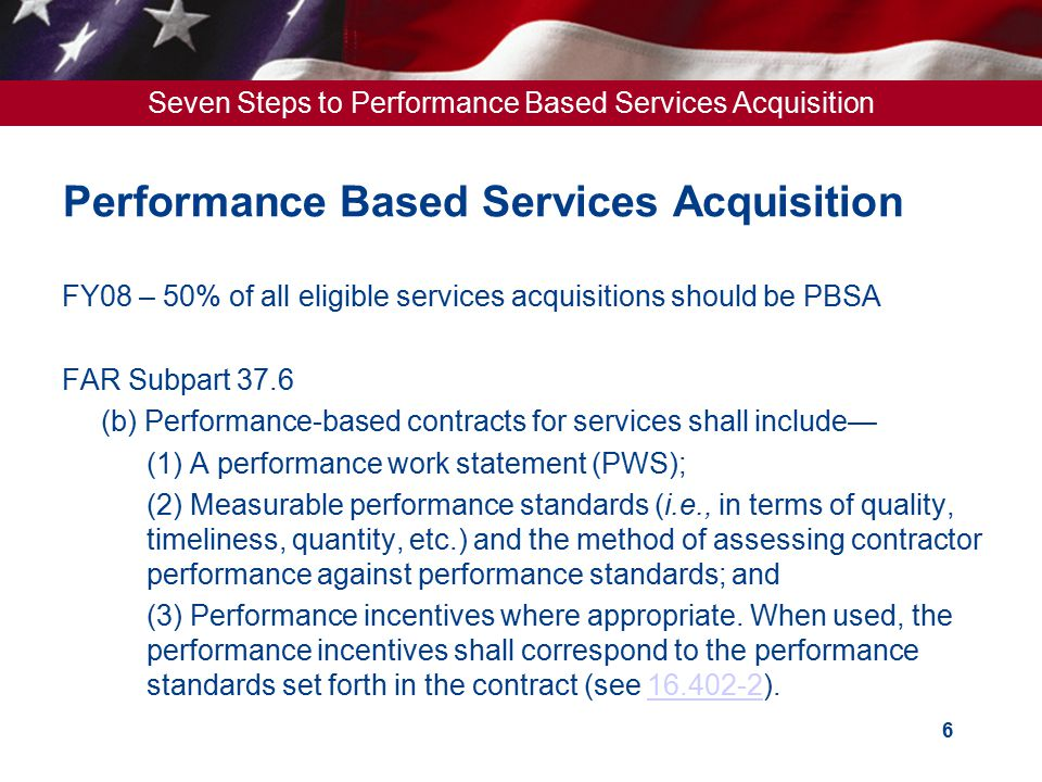 Performance Based Services Acquisition
