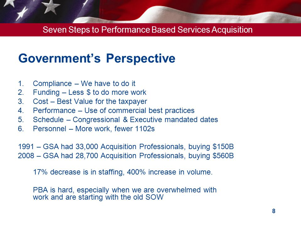 Government's Perspective