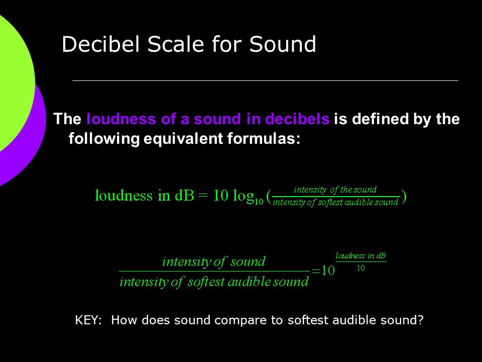 KEY: How does sound compare to softest audible sound