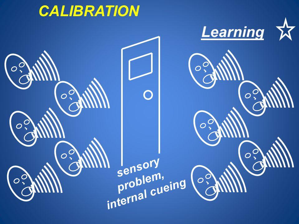 CALIBRATION Learning sensory problem, internal cueing 10