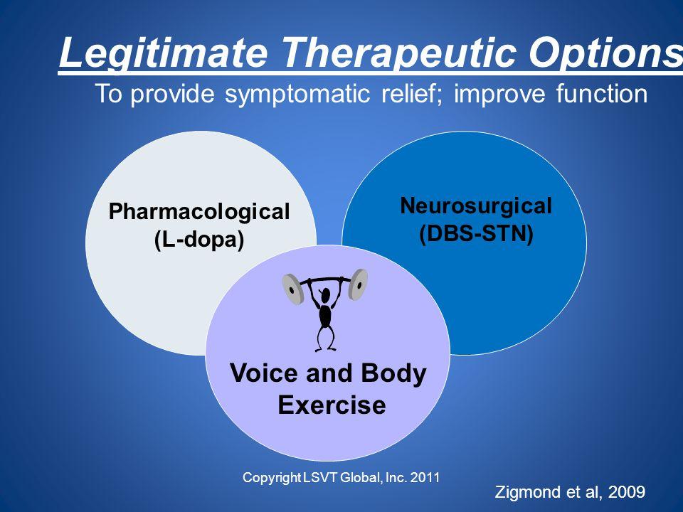 Legitimate Therapeutic Options