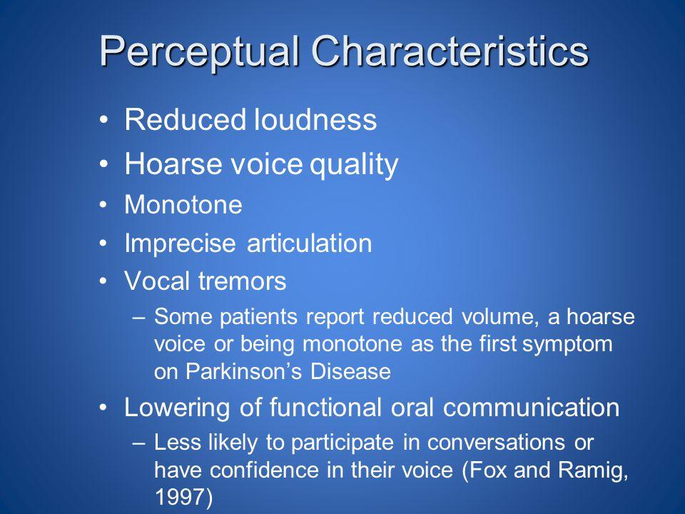 Perceptual Characteristics
