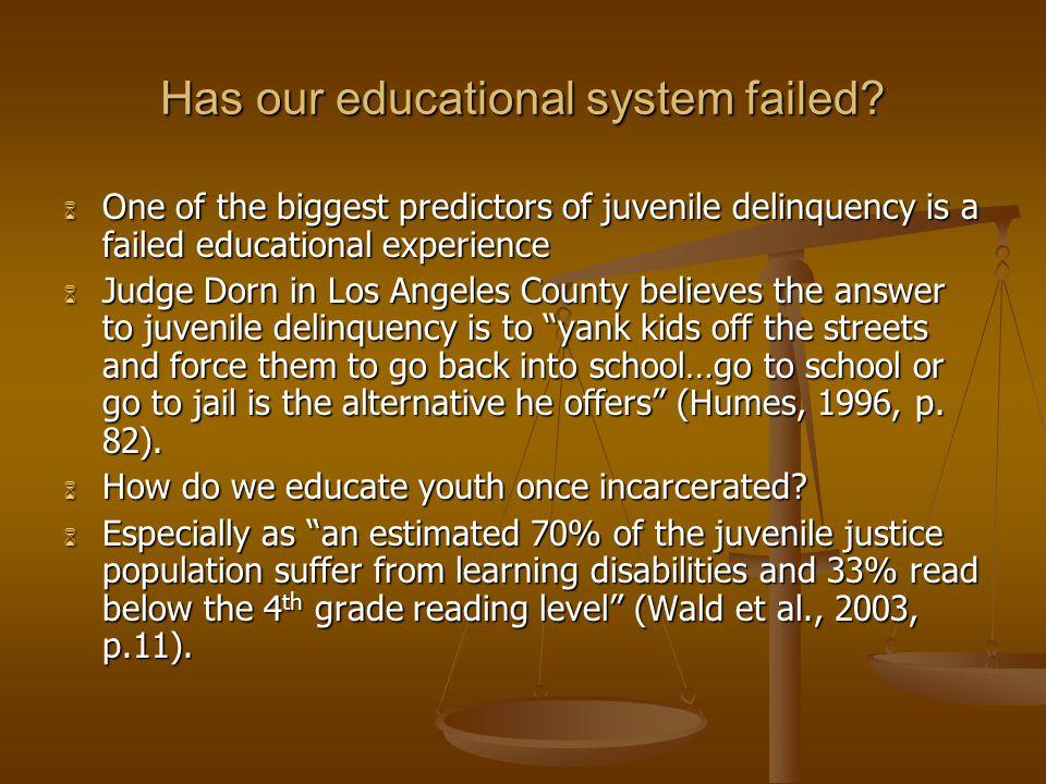 Has our educational system failed