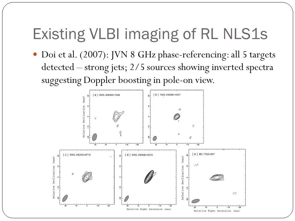 Existing VLBI imaging of RL NLS1s