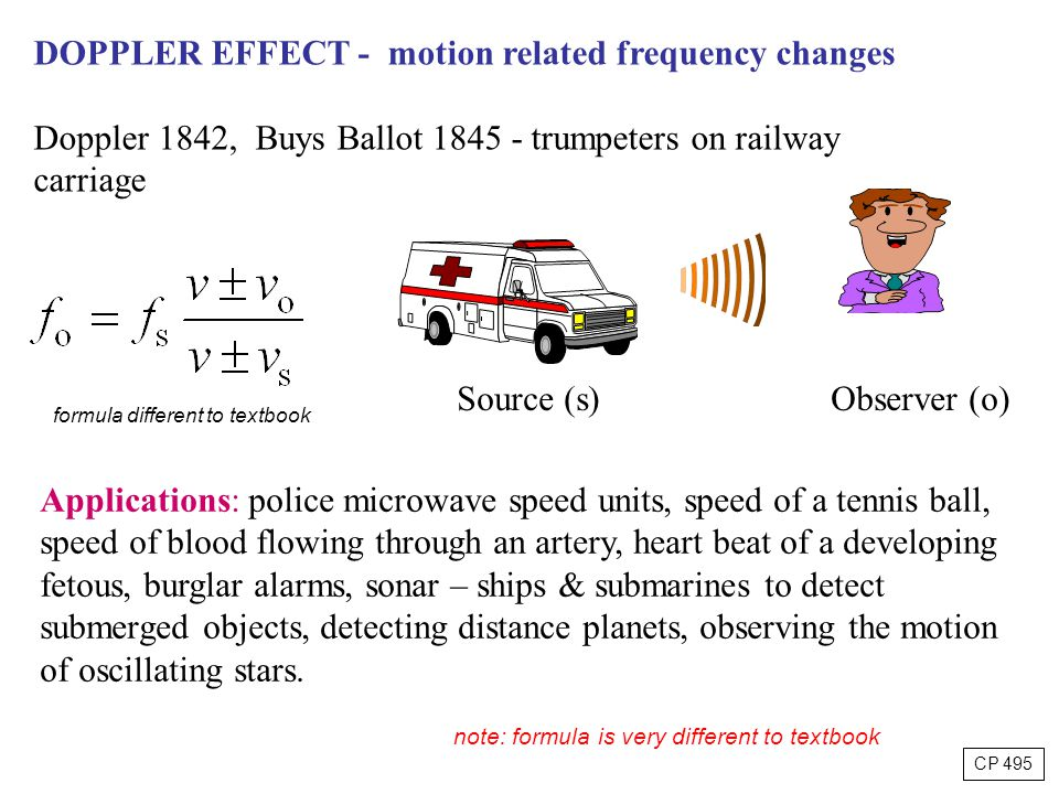 DOPPLER EFFECT - motion related frequency changes