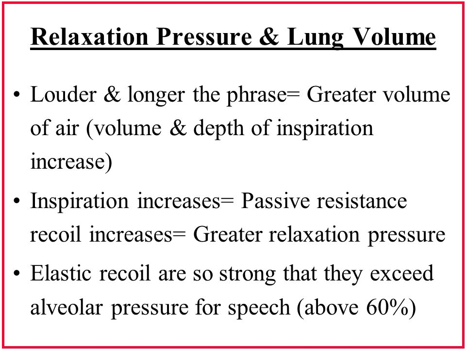 Relaxation Pressure & Lung Volume