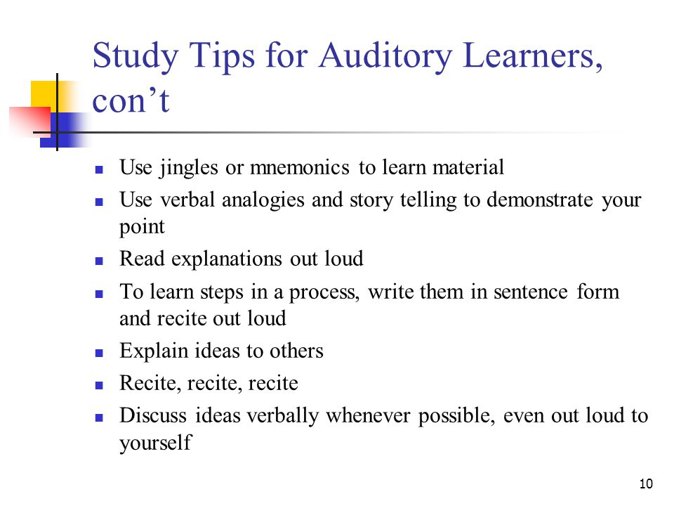 Auditory Learners: Study Tips - YouTube