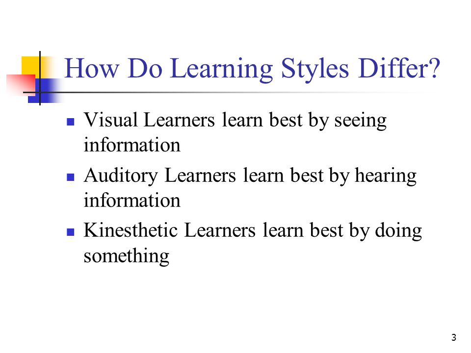 How Do Learning Styles Differ