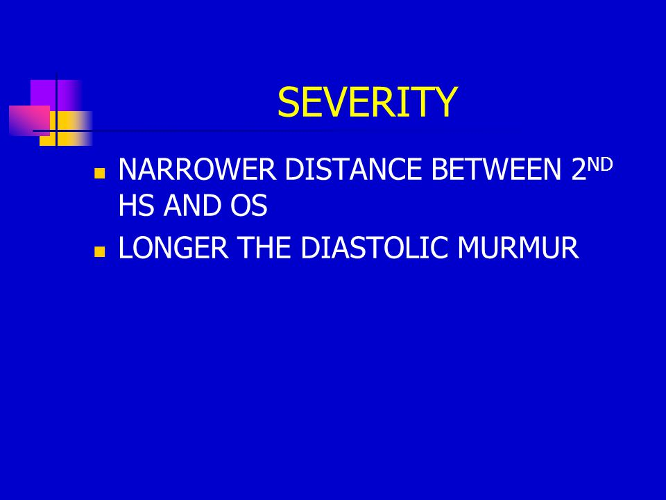 SEVERITY NARROWER DISTANCE BETWEEN 2ND HS AND OS