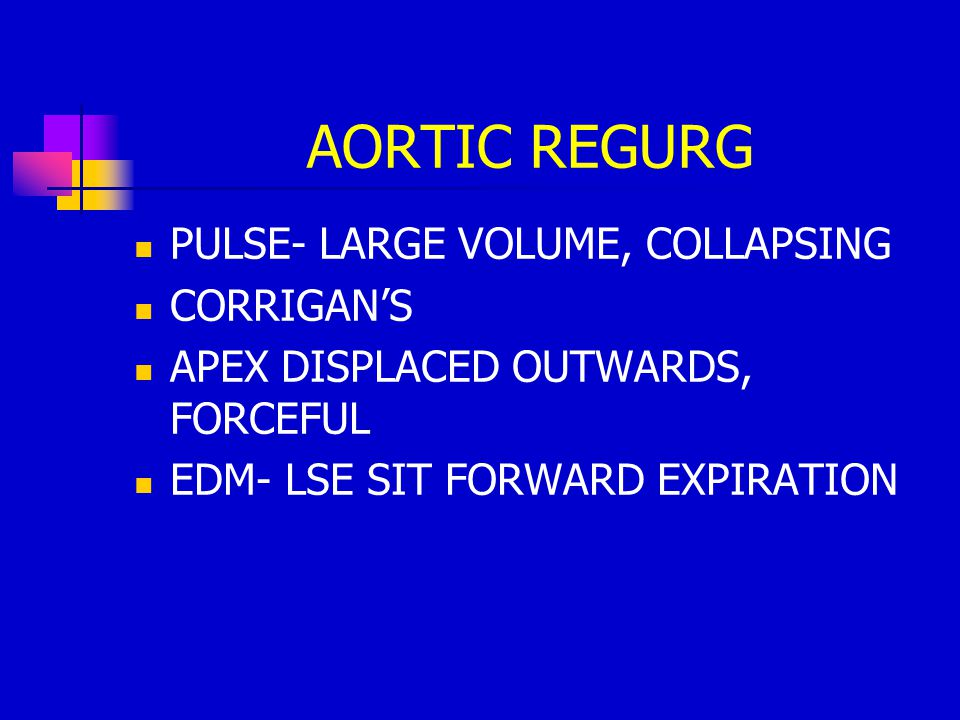 AORTIC REGURG PULSE- LARGE VOLUME, COLLAPSING CORRIGAN'S