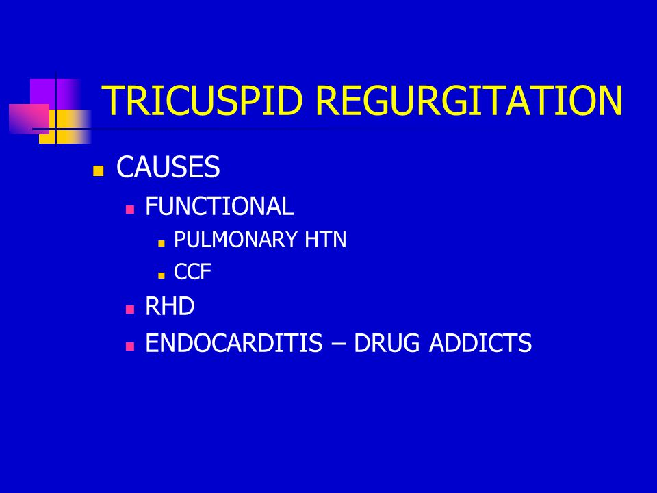 TRICUSPID REGURGITATION