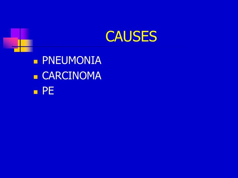 CAUSES PNEUMONIA CARCINOMA PE