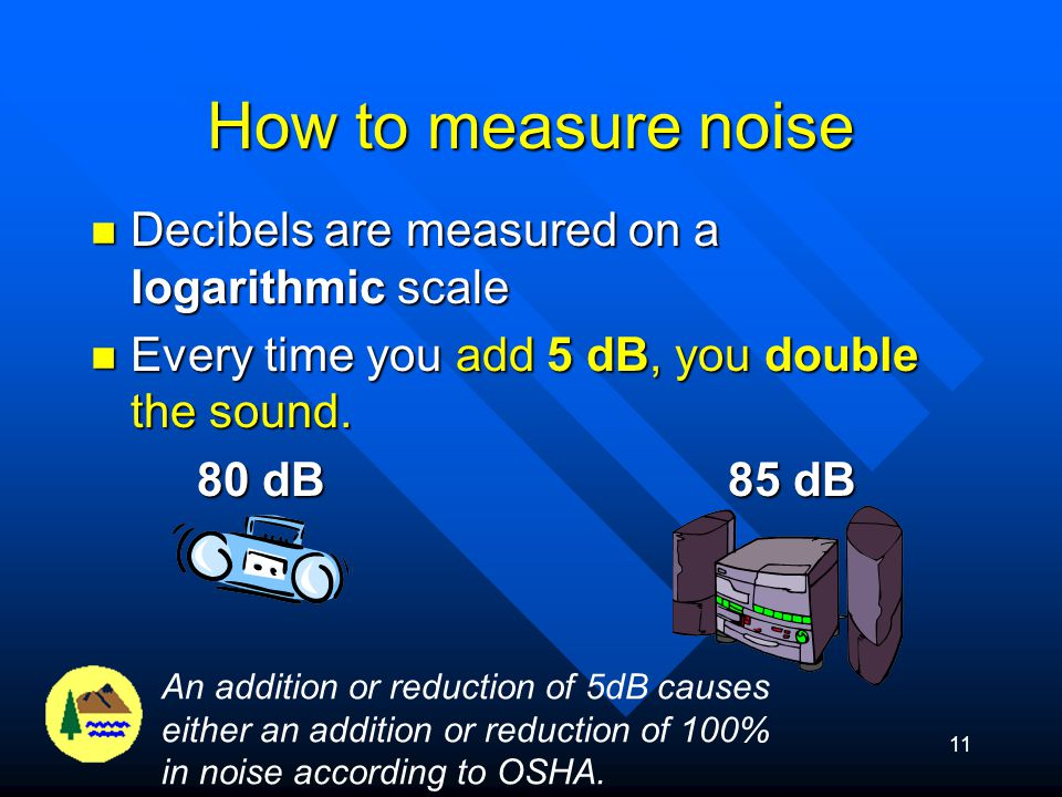 How to measure noise Decibels are measured on a logarithmic scale
