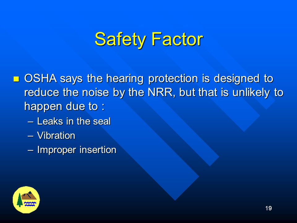 Safety Factor OSHA says the hearing protection is designed to reduce the noise by the NRR, but that is unlikely to happen due to :